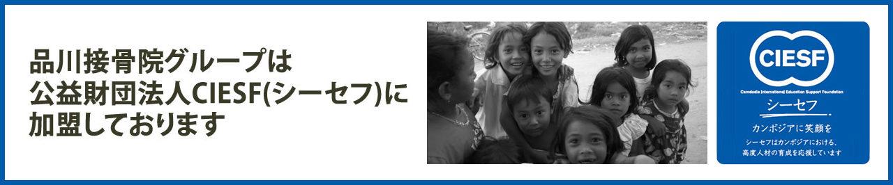 品川整骨院グループは公益財団法人CIESF(シーセフ)に加盟しております